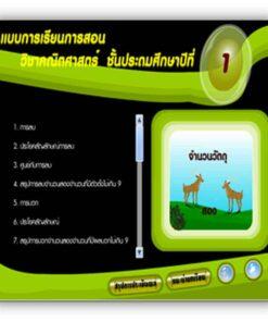 ซอฟต์แวร์ CAI คณิตศาสตร์ ป1-2