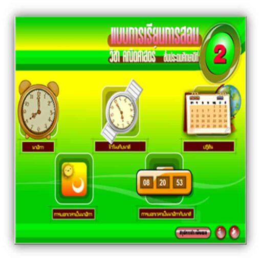 ซอฟต์แวร์ CAI คณิตศาสตร์ ป2-6