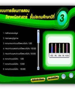 ซอฟต์แวร์ CAI คณิตศาสตร์ ป3-2