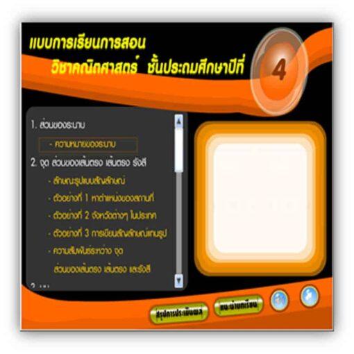 ซอฟต์แวร์ CAI คณิตศาสตร์ ป4-3