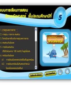 ซอฟต์แวร์ CAI คณิตศาสตร์ ป5-4