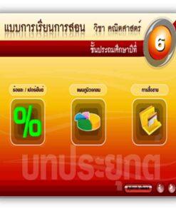 ซอฟต์แวร์ CAI คณิตศาสตร์ ป6-6