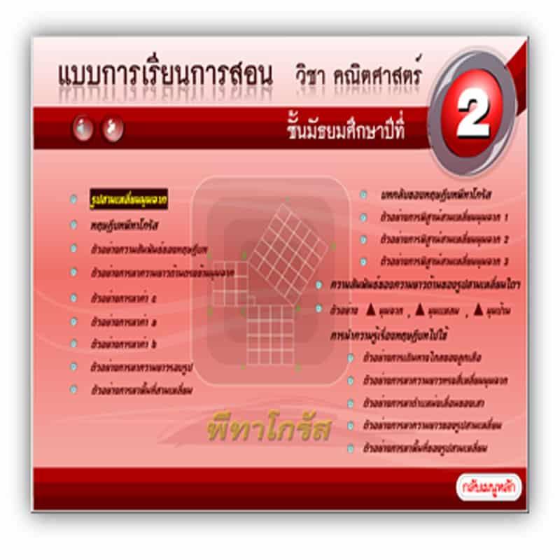 ซอฟต์แวร์ CAI คณิตศาสตร์ ม2-1