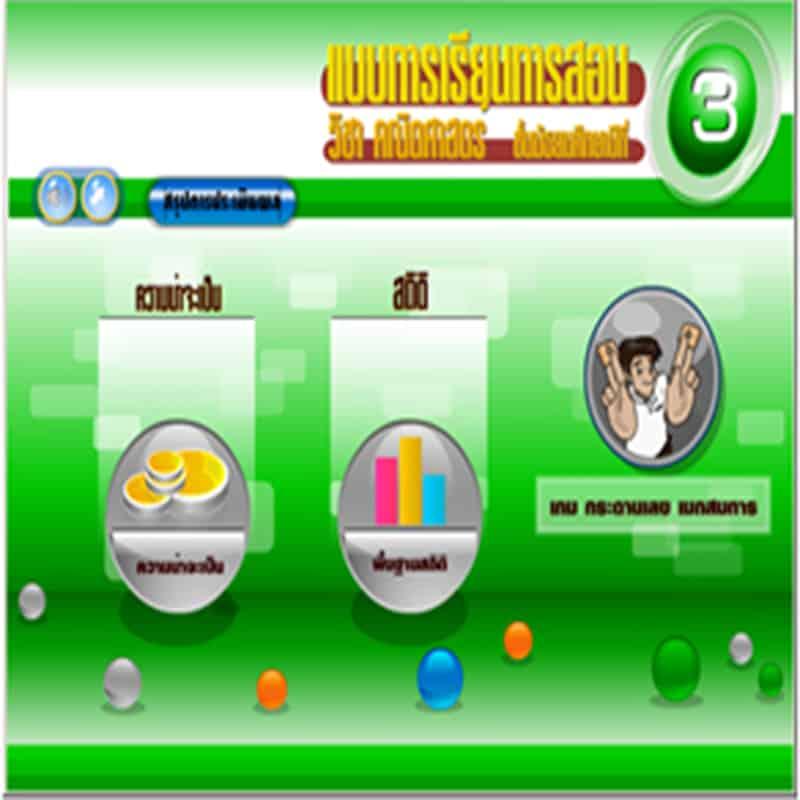 ซอฟต์แวร์สื่อการเรียนการสอน คณิตศาสตร์ ม3 แบบ CAI