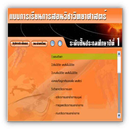ซอฟต์แวร์ CAI วิทยาศาสตร์ ป1-2