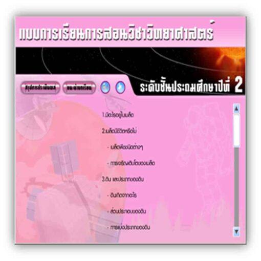 ซอฟต์แวร์ CAI วิทยาศาสตร์ ป2-2