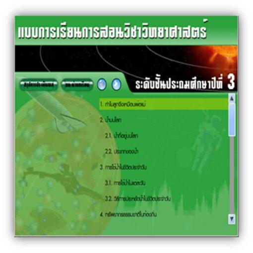 ซอฟต์แวร์ CAI วิทยาศาสตร์ ป3-2