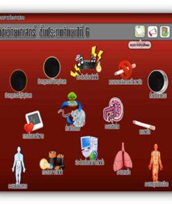 ซอฟต์แวร์ CAI วิทยาศาสตร์ ป6-1