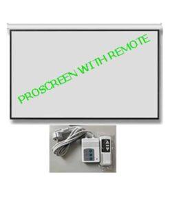 จอมอเตอร์ไฟฟ้า 250 นิ้ว 4:3 PROSCREEN