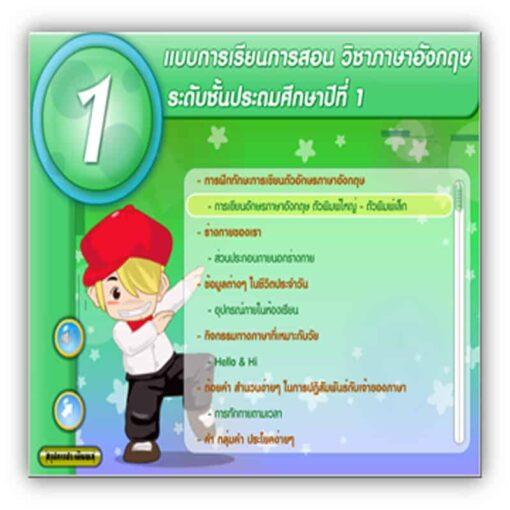 ซอฟต์แวร์สื่อการเรียนการสอน CAI ภาษาอังกฤษ ป1