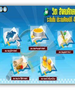 ซอฟต์แวร์ CAI สังคม ป4-3