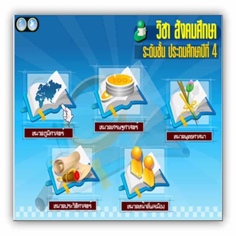 ซอฟต์แวร์สื่อการเรียนการสอน CAI สังคมศึกษา ป4