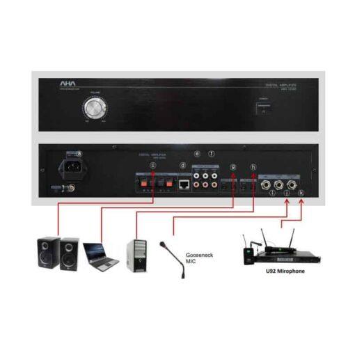 AHA ELF-72DG-Amp-connect