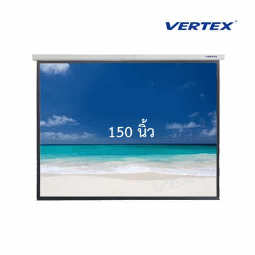 จอโปรเจคเตอร์แบบแขวนมือดึง vertex 150 นิ้ว 4:3 vertex wall screen