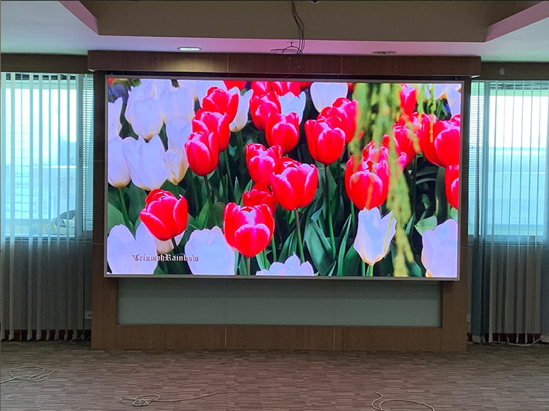 LED display full color P2 installation