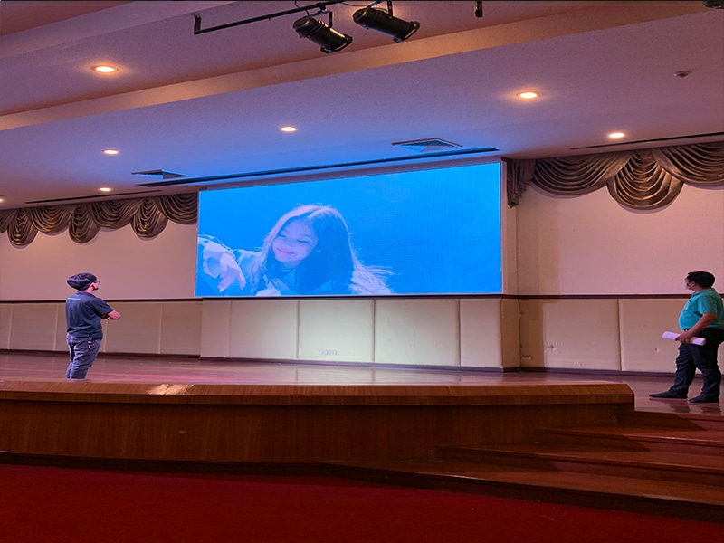 LED display full color P3 installation5