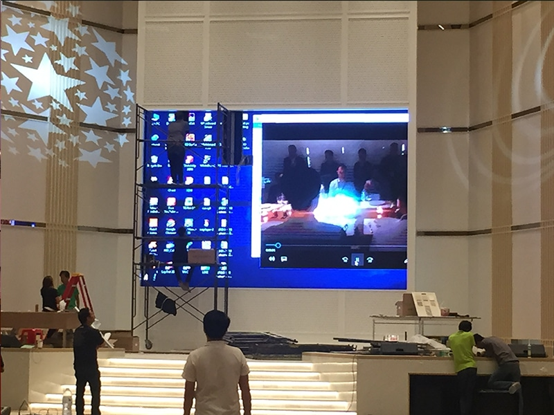 LED display full color P3 installation6