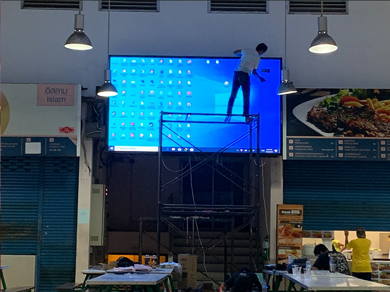 LED display full color P3 installation7