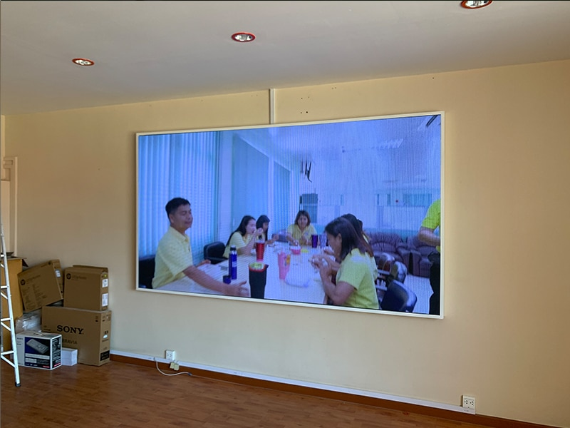 LED display full color P3 installation9