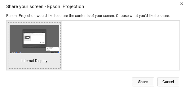 select screen from app iprojection