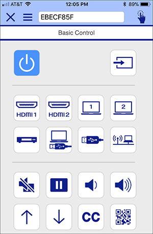 command remote control of app iprojection