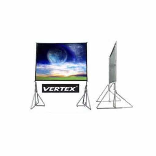 vertex easy fold screen 120 inch rear