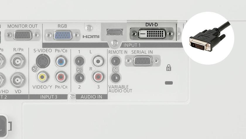 ช่องรับสัญญาณภาพ DVI-D