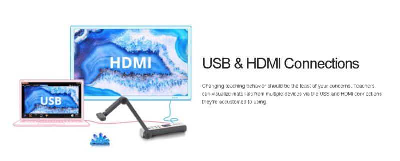 เชื่อมต่อผ่าน USB และ HDMI