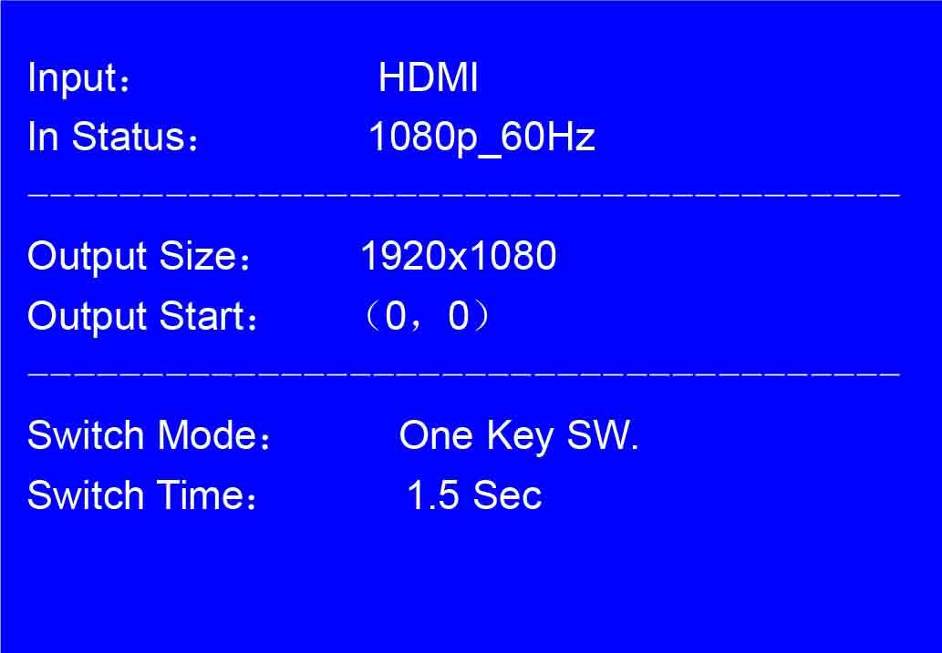 LCD for vdo processor